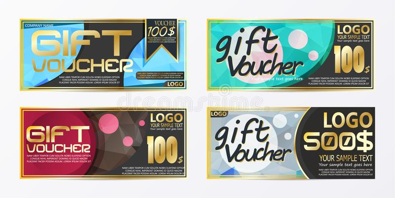 Gift certificate voucher coupon card background template. Eps royalty free illustration