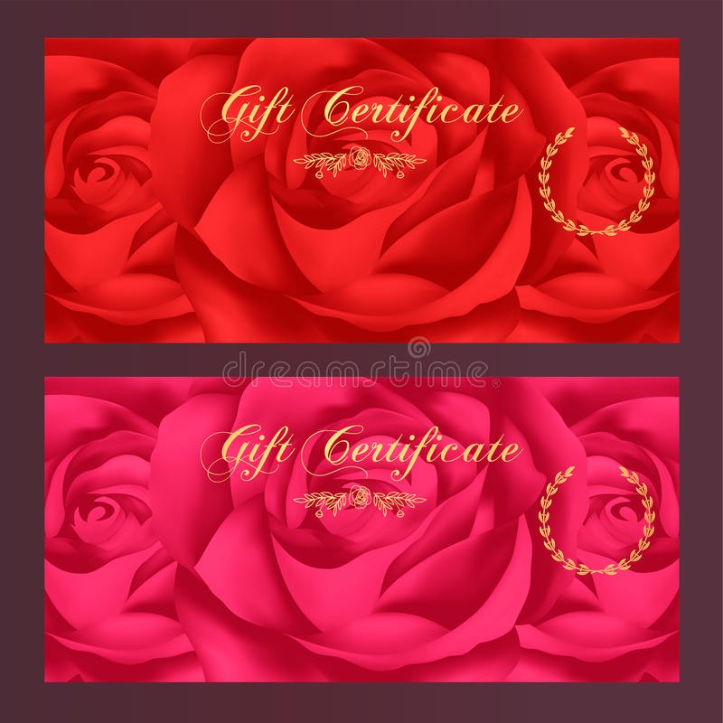 Gift certificate voucher coupon reward gift card template with download gift certificate voucher coupon reward gift card template with rose yadclub Image collections