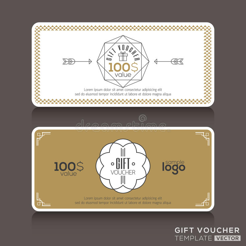 Free Gift Certificate Voucher Coupon Template Royalty Free Stock Photo - 53930585