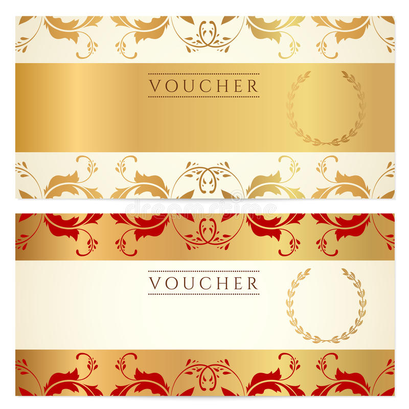 Gift certificate (Voucher, coupon) template royalty free illustration