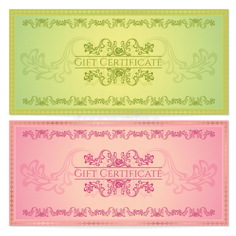 Download Gift Certificate (Voucher, Coupon) Template Stock Vector - Image: 31664127