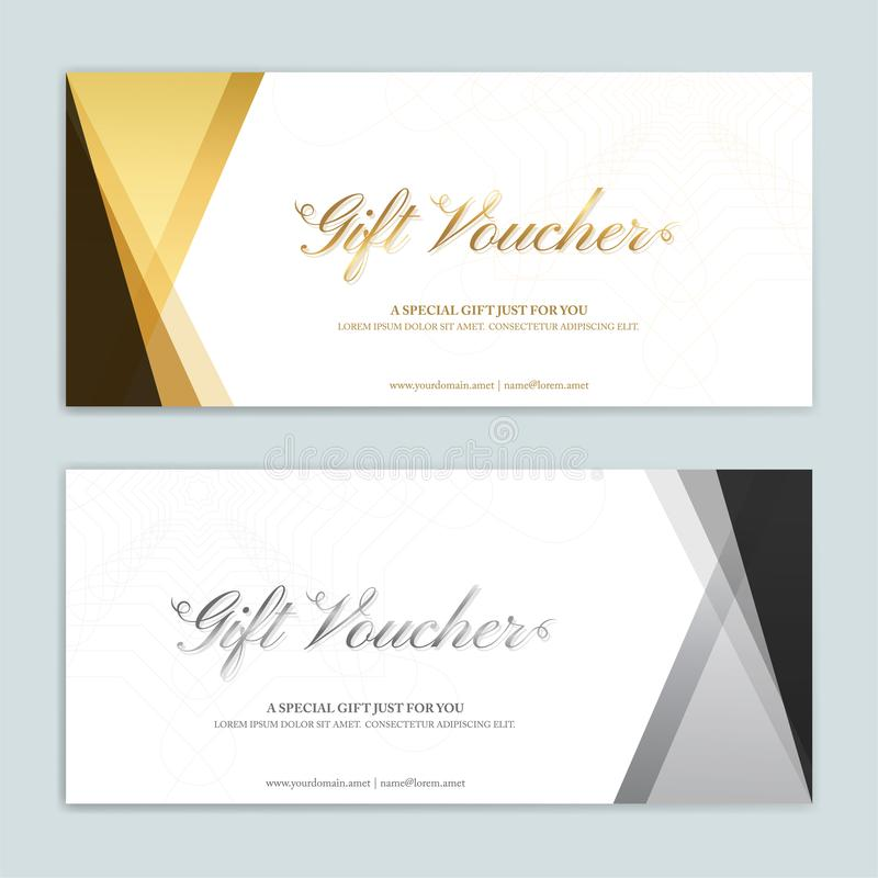 Free Gift Certificate, Voucher, Gift Card Or Cash Coupon Template Stock Photos - 144827203