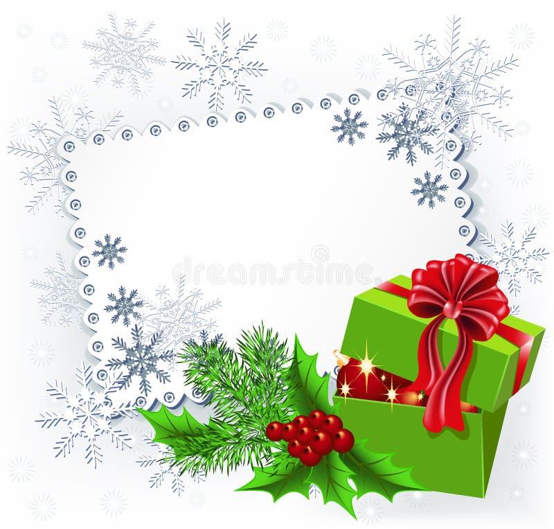 Download Gift Christmas box stock vector. Image of design, frame - 28349430
