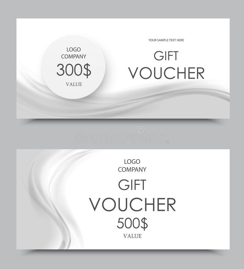 Gift Company Voucher Template Stock Vector - Illustration of company ...