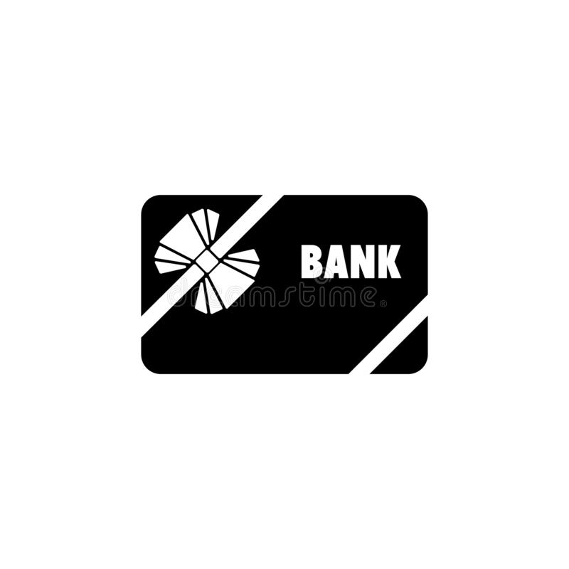 Gift Credit Card with Bow And Ribbon Flat Vector Icon royalty free illustration