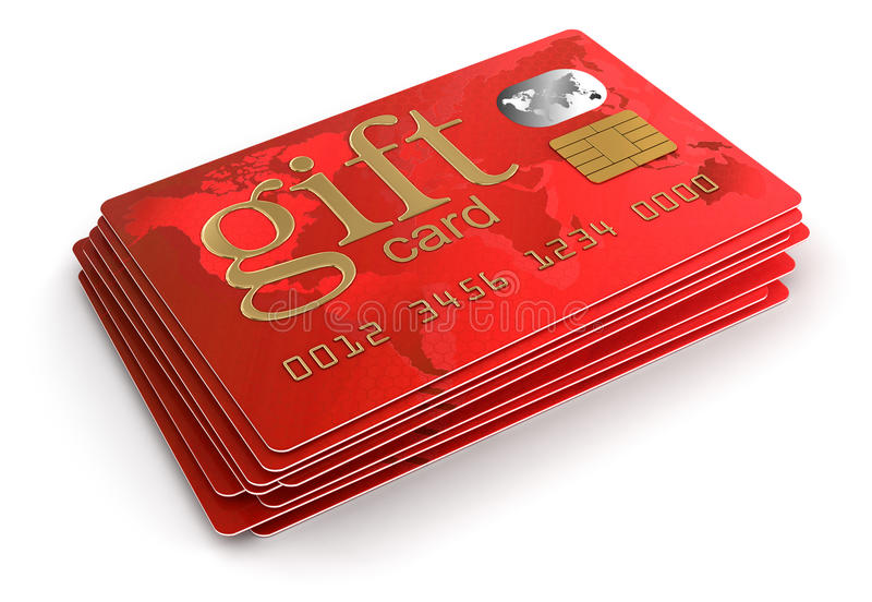Download Gift Credit Cards (clipping Path Included) Stock Illustration - Image: 33661247