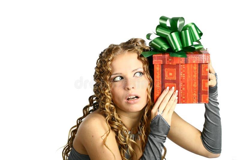 Gift in doos stock afbeelding