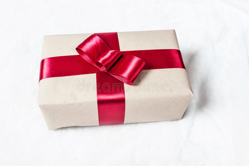Gift in doos stock afbeeldingen