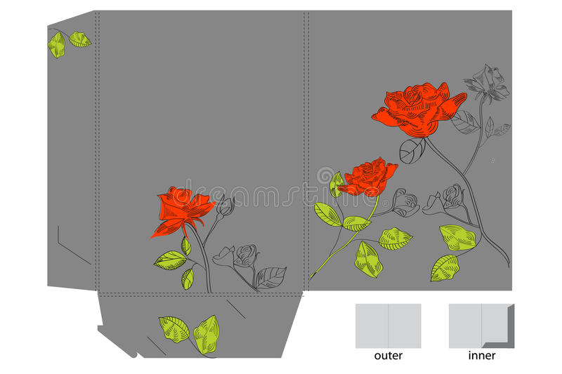 Download Gift Folder With Hand Drawn Roses Stock Vector - Image: 12325039