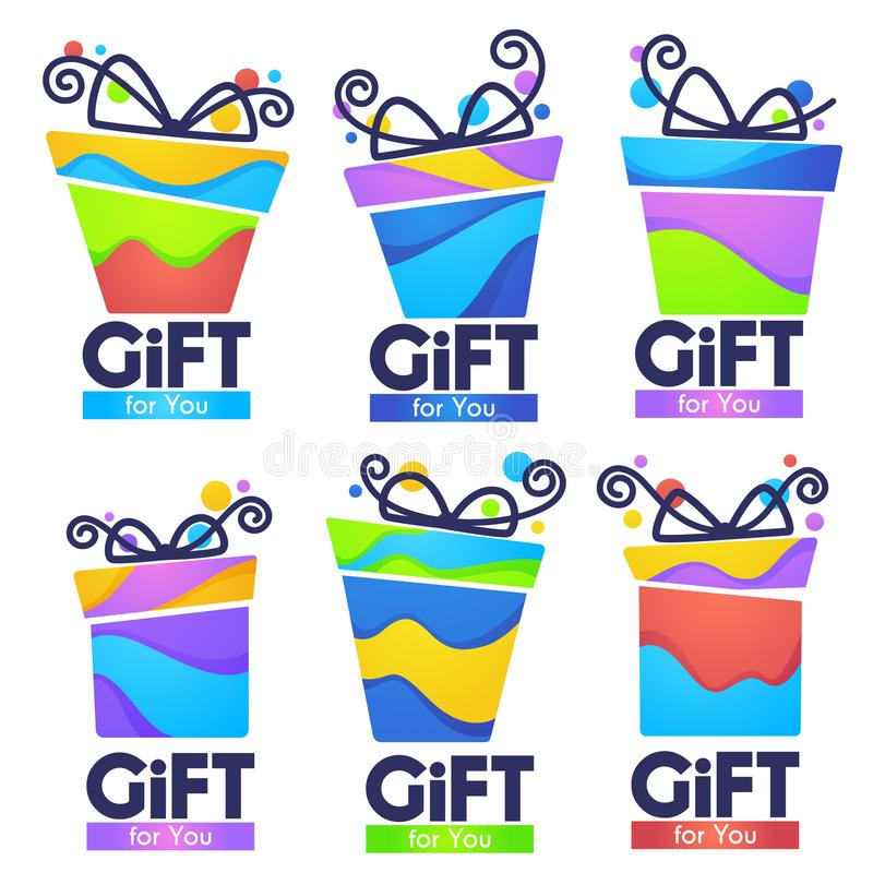 Free Gift For You, Abstract Vector Present Box For Your Congratulation Banner Design And Greeting Cards Stock Images - 125807434