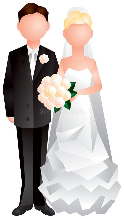 gift gifta sig för coupl nytt stock illustrationer