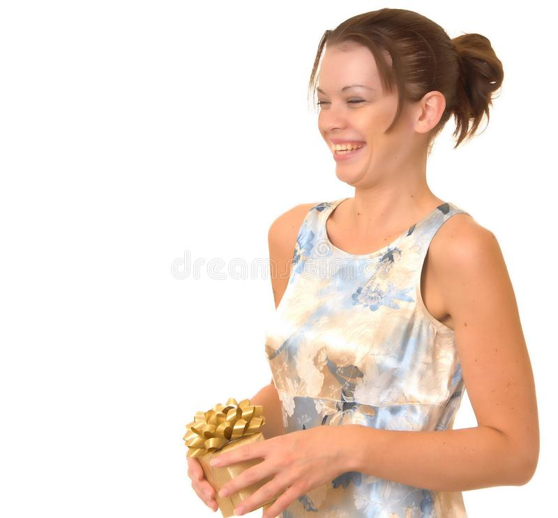 Gift Girl royalty free stock photography