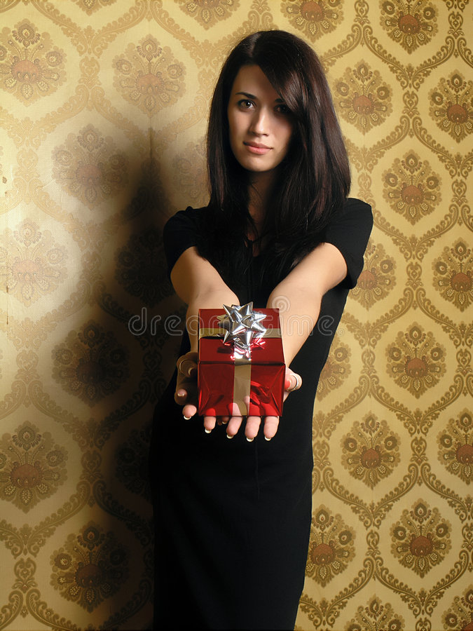 Download Gift Giving stock image. Image of girl, background, elegant - 1659849