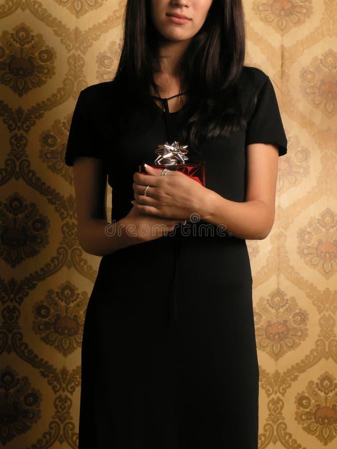 Download Gift Giving 2 stock image. Image of background, brunette - 1659855