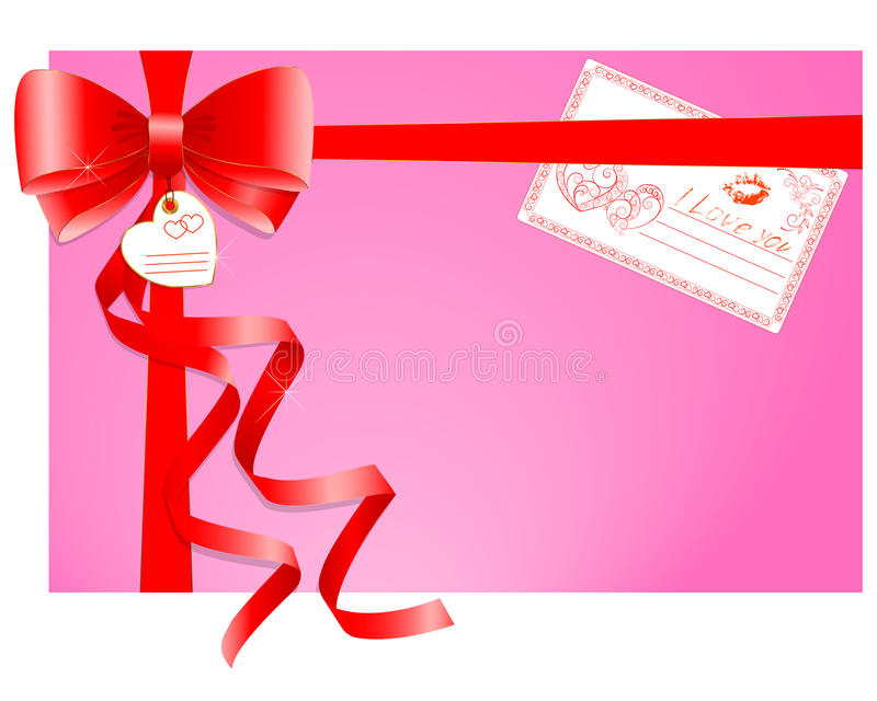 Gift With A Greeting Card. Stock Photo