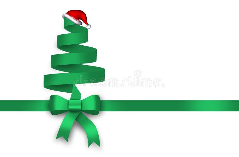 Gift, groen lint, groene lijn, boog vector illustratie