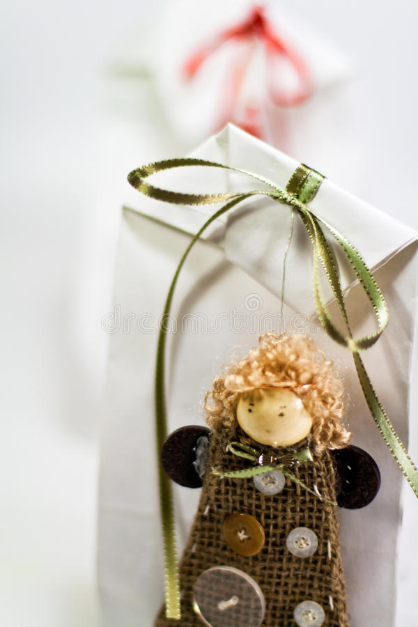 Gift With Handmade Doll Stock Images