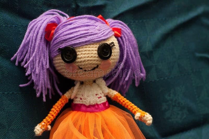 Handmade doll stock images