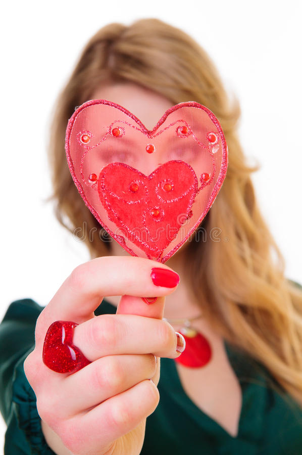 Gift Heart Shape Royalty Free Stock Image