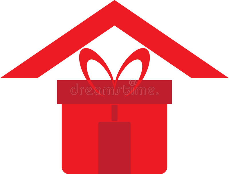 Download Gift home logo stock vector. Illustration of house, logo - 27005973