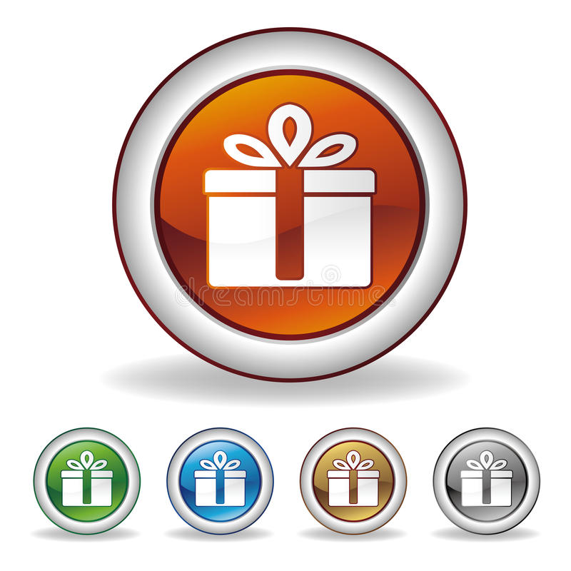 Download Gift icon stock vector. Illustration of birthday, color - 17003341