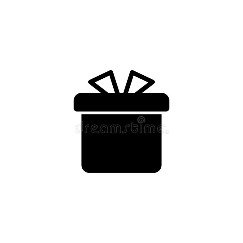 Gift icon flat design. vector icon simple new year style stock illustration