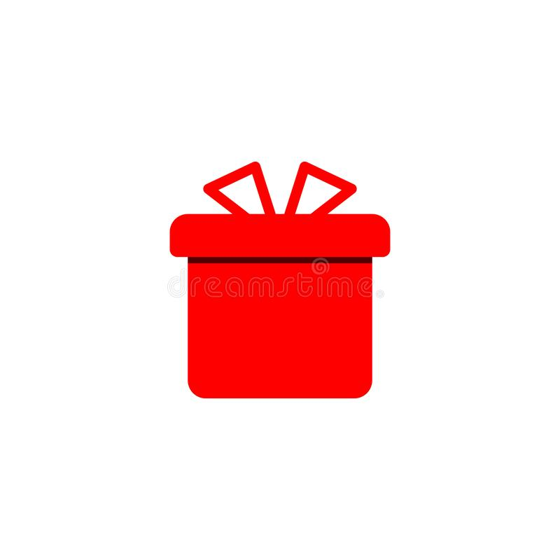 Gift icon flat design. vector icon simple new year style vector illustration