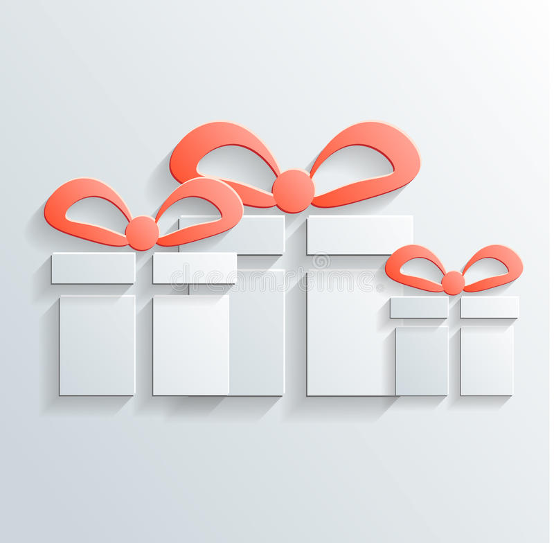 Gift Icon Vector With Shadow Stock Photos