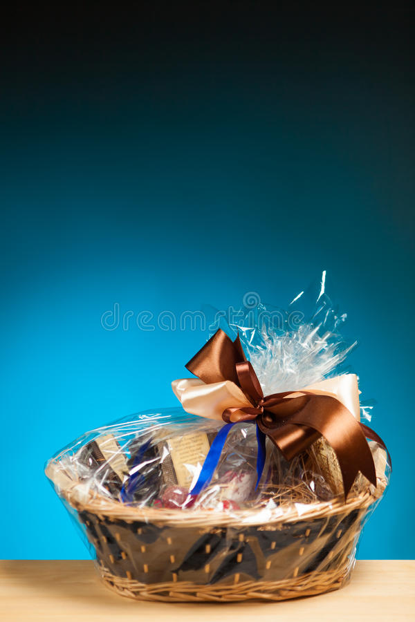 Free Gift In A Basket Stock Photos - 29557293