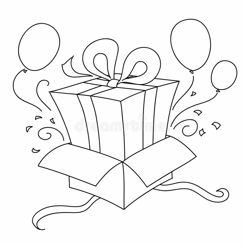 Download Gift inside another gift stock vector. Illustration of balloon - 13790482
