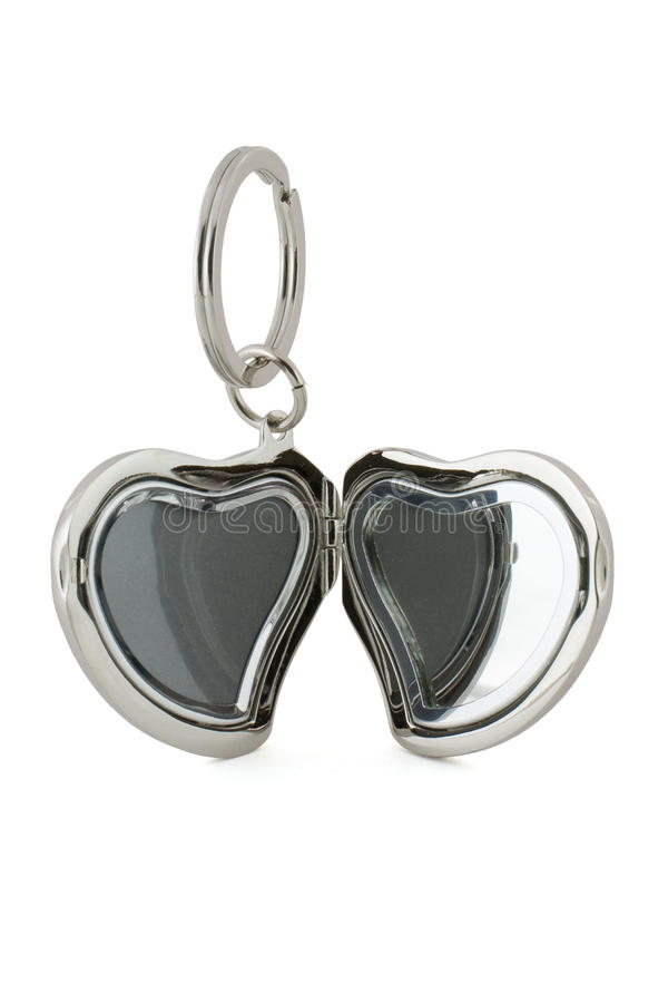 Gift Keychain In Heart Shape Stock Images