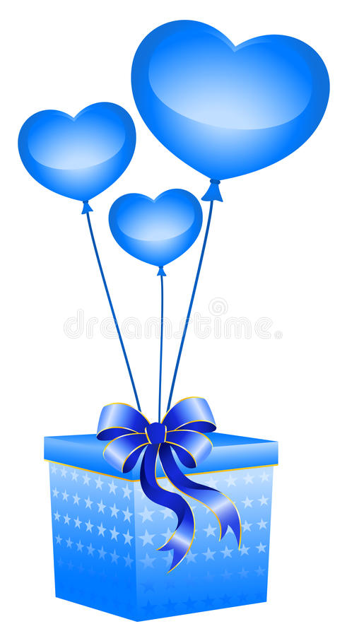 Gift With A Large Bow Stock Photography