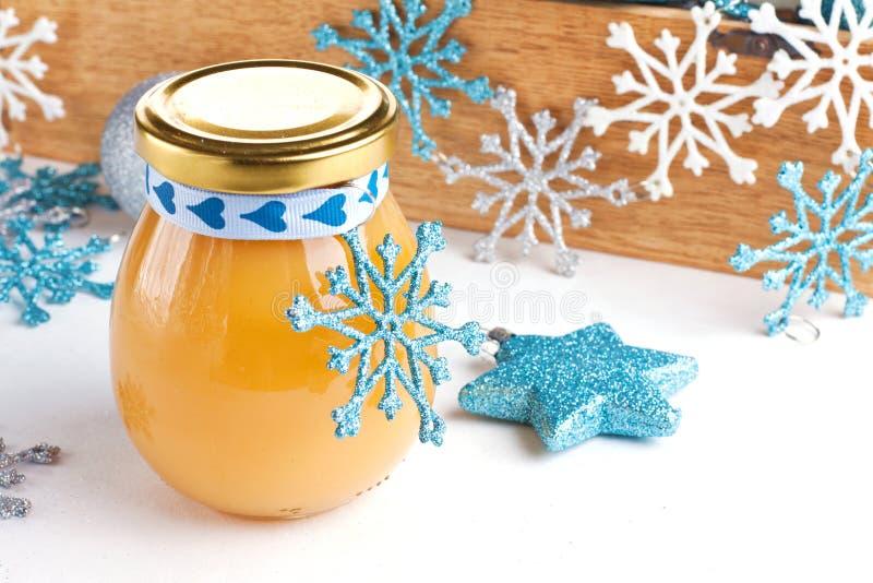 Gift lemon curd royalty free stock photos