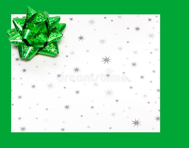 Gift letter on holidays stock photo