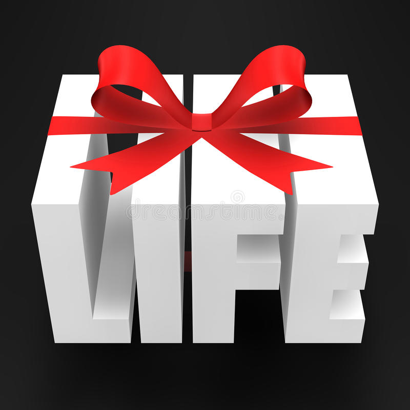 Gift of Life royalty free illustration