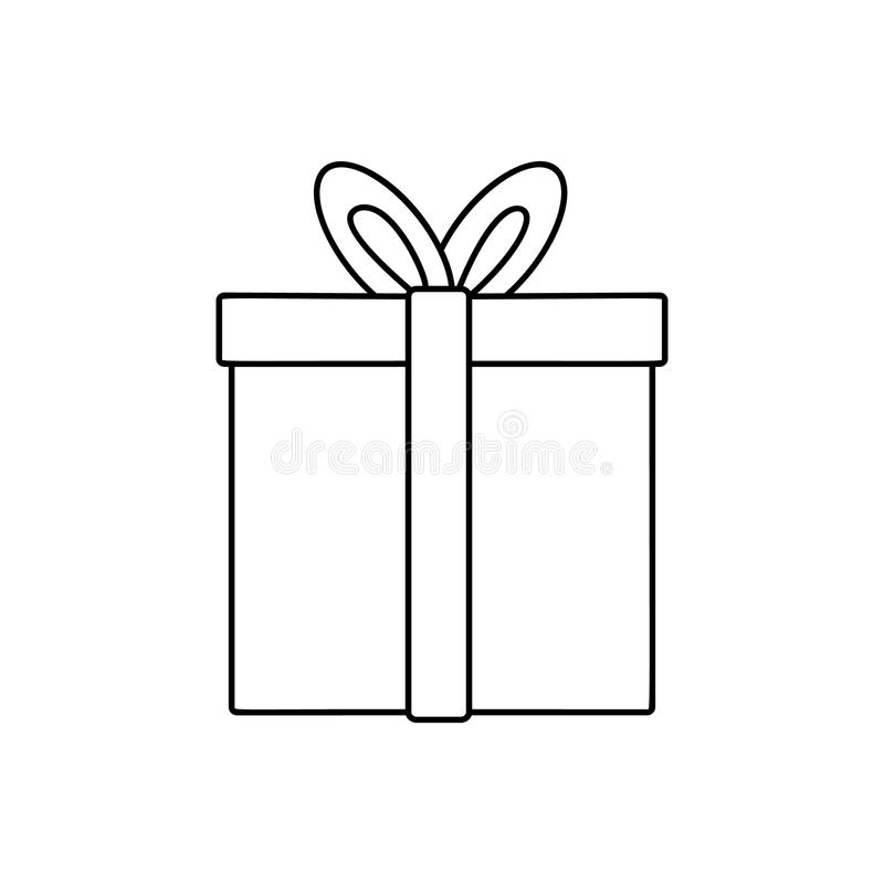 Gift line icon royalty free illustration
