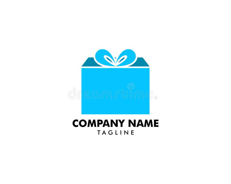 Gift Logo Template vector icon royalty free illustration