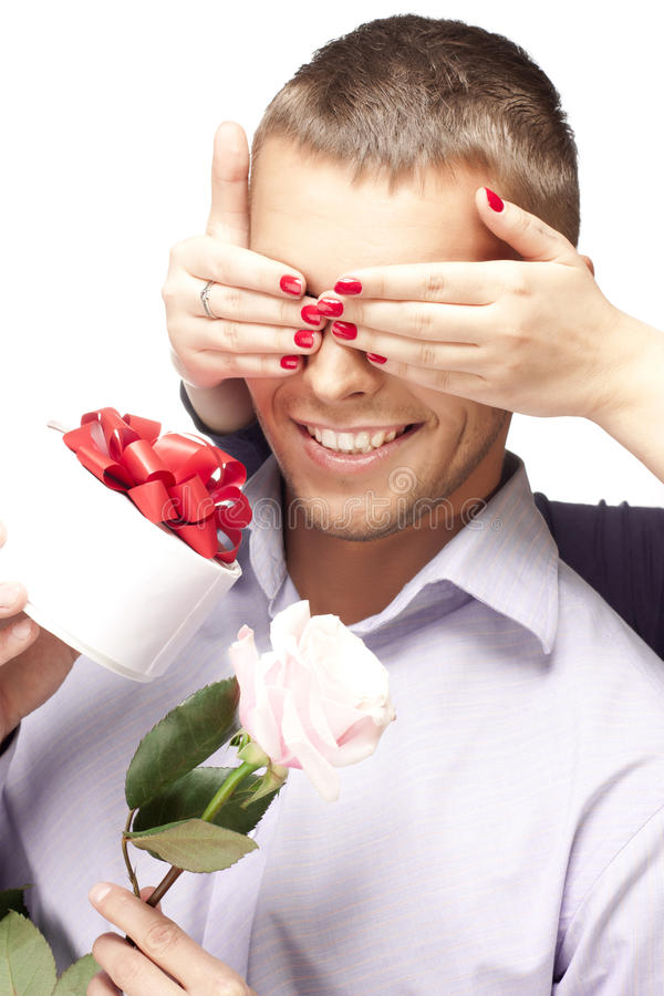 Gift for the man stock photography