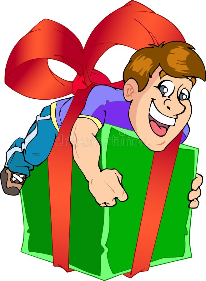 In a gift - man stock photo