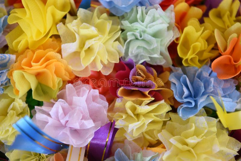 Gift in many colors of ordination. Paper royalty free stock photo