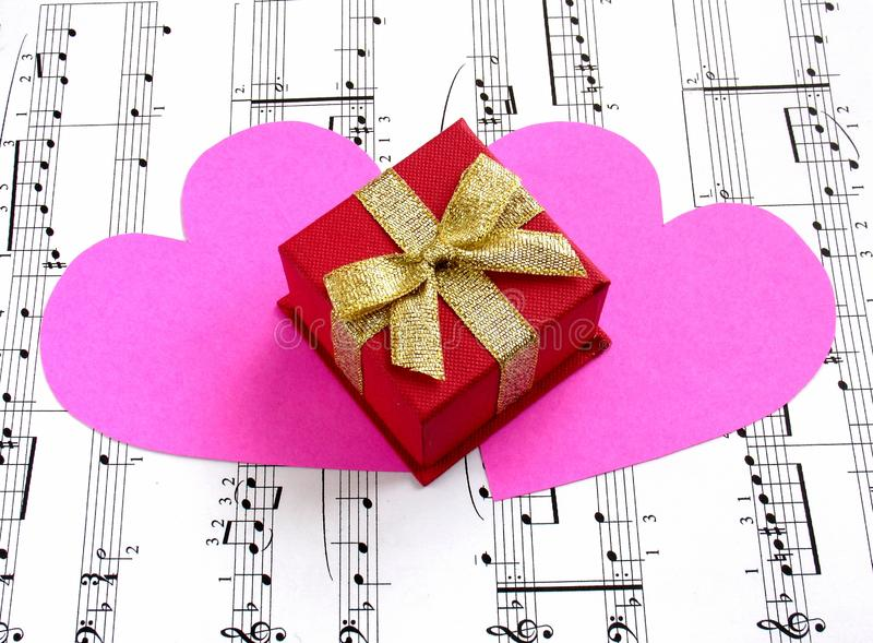 Gift of music royalty free stock photos