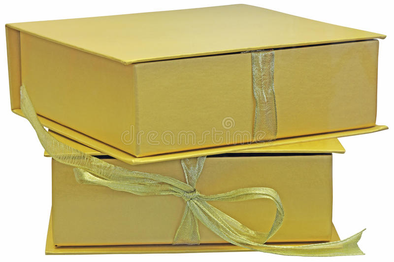 Download Gift packages stock image. Image of event, gold, image - 31536217