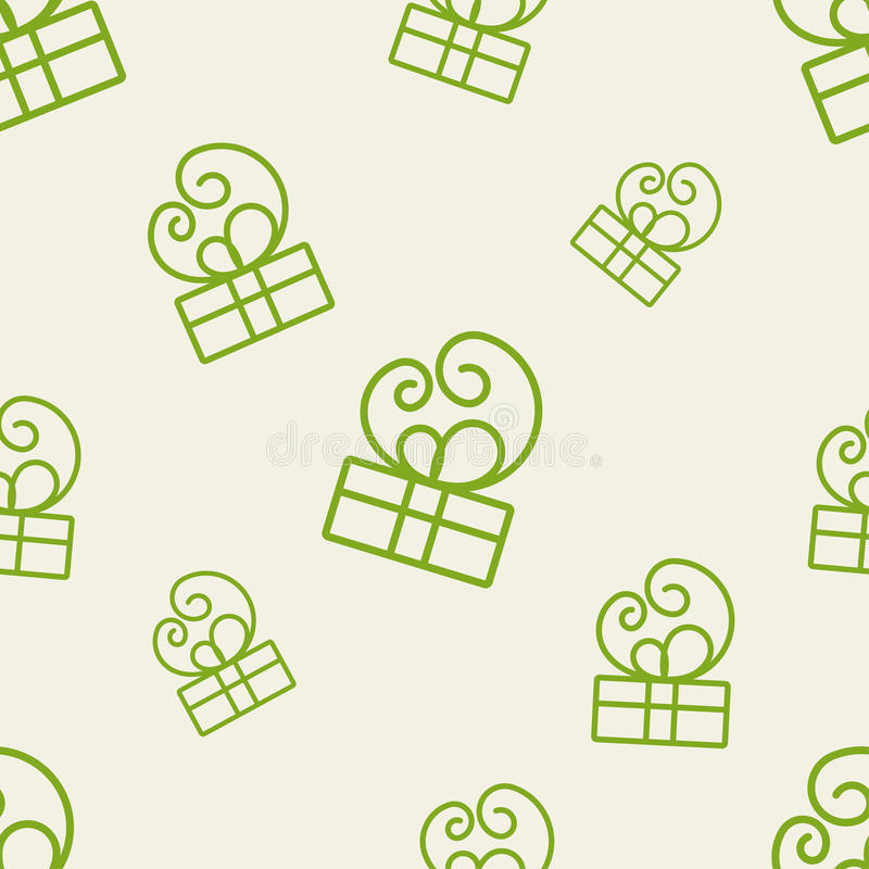 Gift Pattern Four royalty free illustration