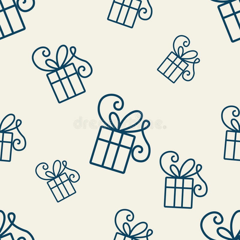 Gift Pattern One stock illustration