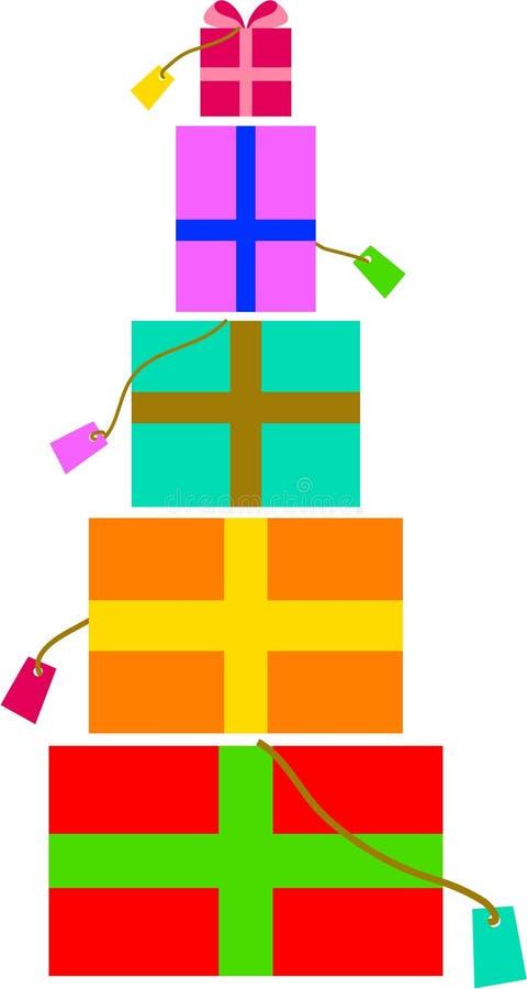 Gift pile royalty free illustration