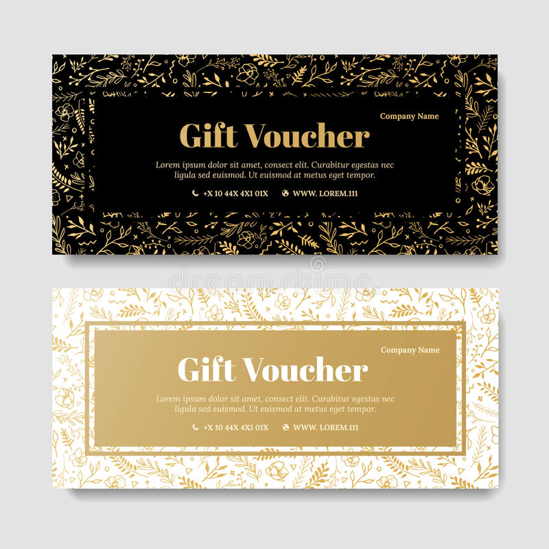 salon gift certificate template free download - gift premium voucher coupon template stock illustration