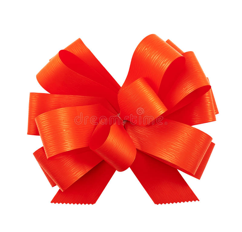 Gift ribbon bow isolated royalty free stock photography