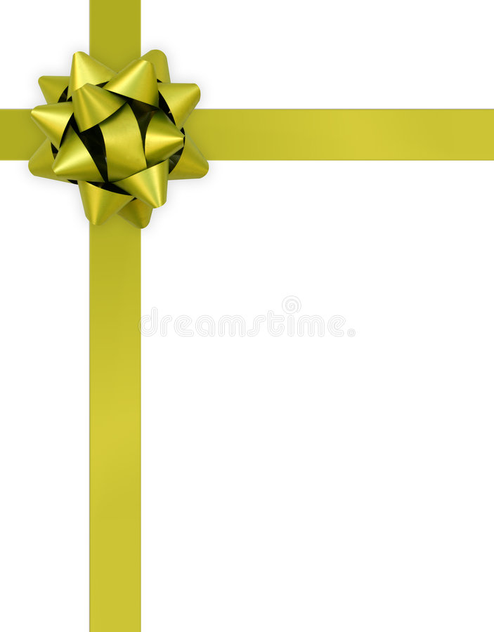Gift ribbon and bow on a white background royalty free stock photography