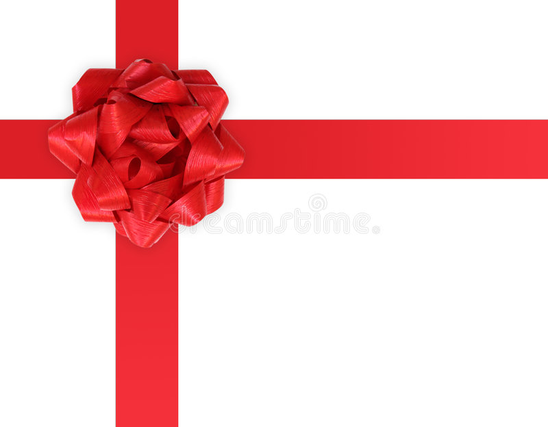 Gift ribbon and bow on a white background royalty free stock photos
