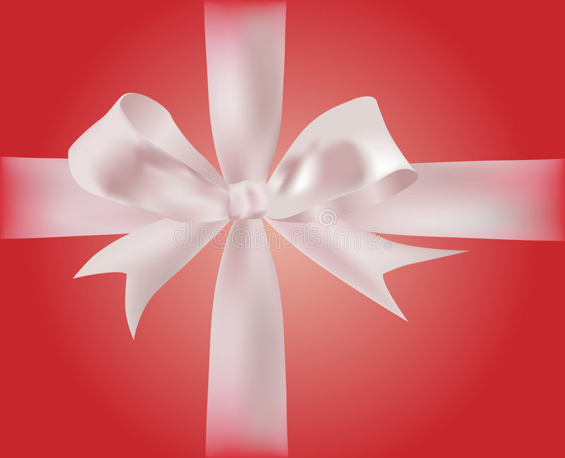 Gift with ribbons royalty free illustration